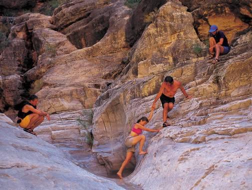 4 rock climbers